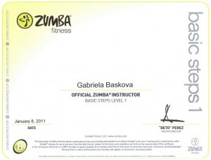 Certifikát ZUMBA®