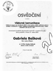 Certifikát Vědomá komunikace