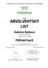 Certifikát FitPainFree®